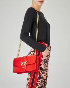 Love Bag rossa in vera pelle