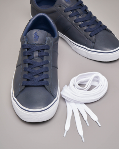 Sneakers Sayer blu in pelle