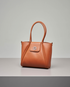 Shopping bag morbida color cuoio misura piccola