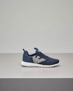 Sneakers blu in mesh