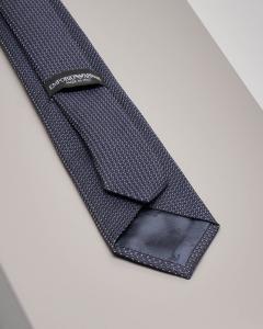 Cravatta blu micro-fantasia