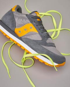 Sneakers Jazz O' grigio scuro e arancione