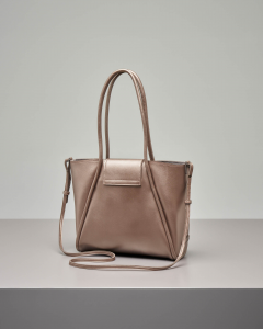 Shopping bag morbida color bronzo misura piccola