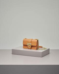 Mini Love Bag color cuoio in vera pelle