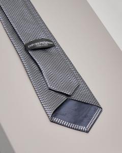 Cravatta grigia fantasia micro-disegno