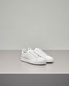 Sneakers bassa stringata color bianco