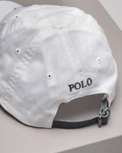 Berretto bianco con frontino e big logo