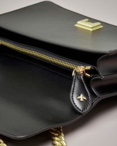 Mini Love Bag nera in vera pelle