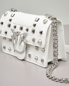 Mini Love Bag Idillio bianca in pelle