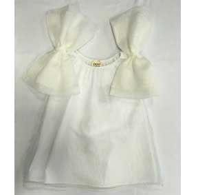 Vestito lungo bianco lana e panna