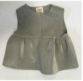 Vestito argento a gonna e smanicato