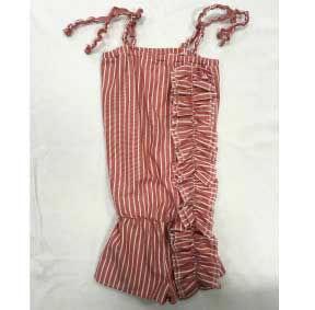 Tutone rosso scuro a righe bianche