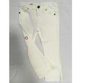 Pantalone in tessuto bianco