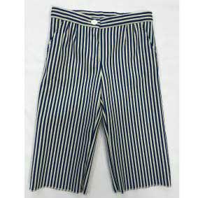Pantalone blu a righe bianche