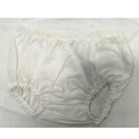 Pantaloncino bianco a pannolino