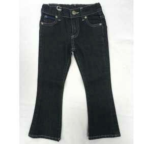 Jeans blu scuro a zampa d'elefante