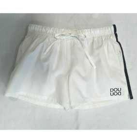 Boxer bianco con righe e stampa logo