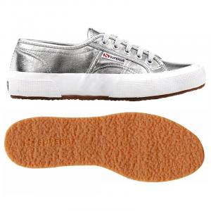 Scarpe argento in tela con effetto metallizzato