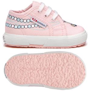 Scarpe rosa con stampe caramelle azzurre
