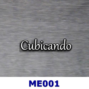 Film for cubicatura metal effect