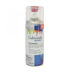 Transparent two-component spray