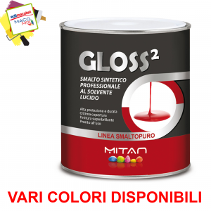 Mitan Gloss2 smalto al solvente lucido colore marrone terracotta 0,75ml per legno,ferro,metalli
