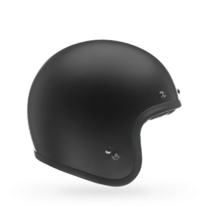 CASCO MOTO JET BELL CUSTOM 500 MATTE BLACK