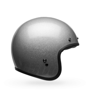 CASCO MOTO JET BELL CUSTOM DLX 500 PULSE GLOSS SILVER FLAKE