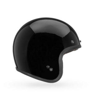 CASCO MOTO JET BELL CUSTOM DLX 500 SOLID GLOSS BLACK