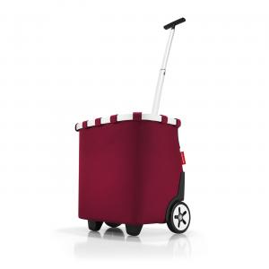 Reisenthel - Carrycruiser - Carrello da spesa a due ruote e tracolla rosso rubino cod. OE3035