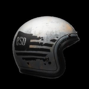 CASCO MOTO JET BELL CUSTOM 500 DLX SE RSD '74 BLACK SILVER