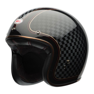 CASCO MOTO JET BELL CUSTOM 500 DLX SE RSD CHECK IT BLACK GOLD