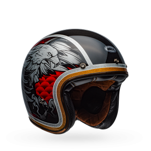 CASCO MOTO JET BELL CUSTOM 500 CARBON OSPREY GLOSS BLACK