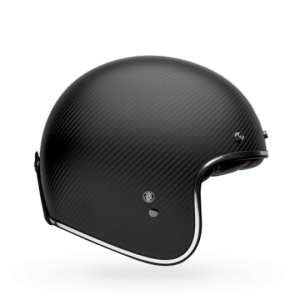 CASCO MOTO JET BELL CUSTOM 500 CARBON MATTE BLACK