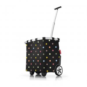 Reisenthel - Carrycruiser - Carrello da spesa a due ruote e tracolla nero pois multicolore cod. OE7009