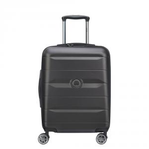 Delsey - Comete - Valigia trolley da cabina Ryanair 4 doppie ruote ABS slim 55 cm nero cod. 3039803