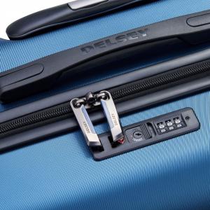 Delsey - Comete - Valigia trolley da cabina Ryanair 4 doppie ruote ABS slim 55 cm blu cod. 3039803