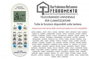 TELECOMANDO UNIVERSALE CONDIZIONATORE CLIMATIZZATORE 6000 IN 1