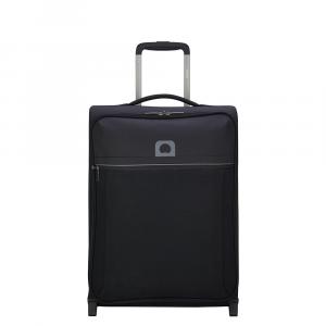 Delsey - Brochant - Valigia trolley da cabina Ryanair 2 ruote morbido slim 55 cm nero cod. 2255723