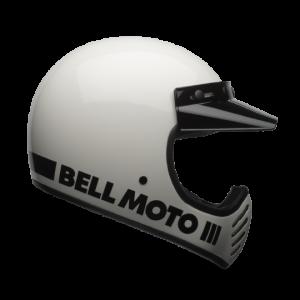 CASCO MOTO INTEGRALE BELL MOTO-3 GLOSS WHITE CLASSIC