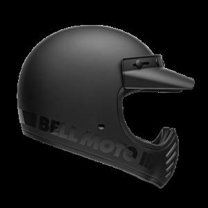 CASCO MOTO INTEGRALE BELL MOTO-3 MATTE/GLOSS BLACKOUT CLASSIC