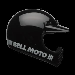 CASCO MOTO INTEGRALE BELL MOTO-3 GLOSS BLACK CLASSIC