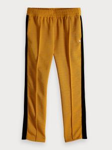 Pantalone ocra con righe nere