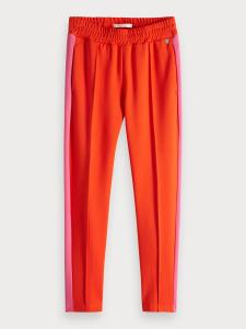 Pantalone rosso con righe rosa