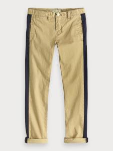 Pantalone sabbia con righe nere