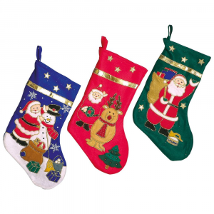 Calza dei regali di Babbo Natale Set 3 pezzi
