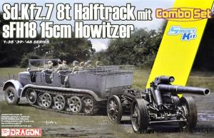 Sd.Kfz.7 8(t) Halftrack + s.FH.18 Howitzer