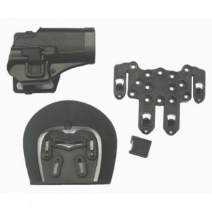 FONDINA RIGIDA IN ABS COMPATIBILE CON GLOCK G17 COLORE NERA HGL-B