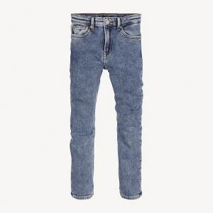 Jeans con ricamo cane rosso e bianco