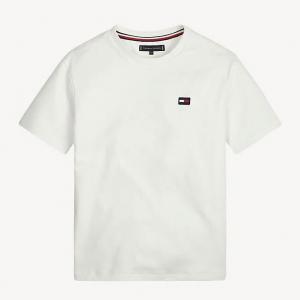 T-Shirt bianca con stampa logo e scritta